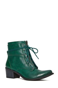 Shoe Cult Smooth Criminal Boot - Hunter Green | Shop Shoes at Nasty Gal (green, laces, boot, shoe)