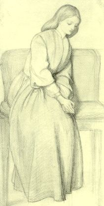 Drawing of Lizzie Siddal that I presume is also by Dante Gabriel Rossetti