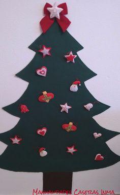 Manualidades Caseras Inma_ Árbol de Navidad de fieltro