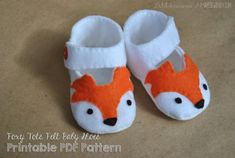 "totally adorable felt foxy baby shoe pattern - ""Foxy Tot"" pdf baby shoe pattern."