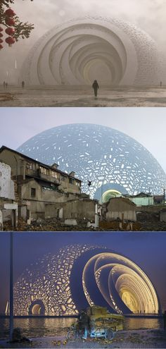 The Puzzle Ball Theatre by Steven Chilton Architects / ?- The Puzzle Ball Theatre by Steven Chilton Architects / ?Guangzhou, China – Architecture Designs The Puzzle Ball Theatre by Steven Chilton Architects / 📍Guangzhou, China - China Architecture, Unique Architecture, Futuristic Architecture, Facade Architecture, Ancient Architecture, Landscape Architecture, Theatre Architecture, Planetarium Architecture, Great Buildings And Structures