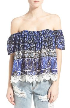 Love off the shoulder and pattern