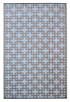 Rheinsberg Powder Blue World Indoor/Outdoor Area Rug