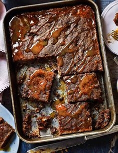 Sticky toffee pudding traybake - Sainsbury's Magazine