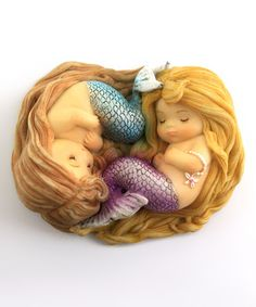 Look what I found on #zulily! Sleeping Mermaid Friends Figurine by Top Collection #zulilyfinds