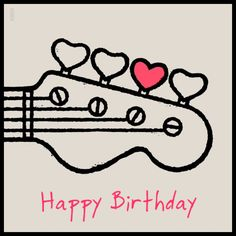 「happy birthday to a bass player」の画像検索結果 Happy Birthday Guitar, Happy Birthday Meme, Birthday Fun, Birthday Quotes, Birthday Greetings, Birthday Wishes, Guitar Doodle, Guitar Drawing, Guitar Painting