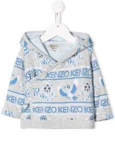 Shop Kenzo Babies' Wrap Style Hoodie In Grey from stores. Grey cotton wrap style hoodie from Kenzo Kids featuring a hood, long sleeves, an off-centre front button fastening and a ribbed hem. World Of Fashion, Kids Fashion, Fashion Design, Kids Wraps, Kenzo Kids, Grey Hoodie, Wrap Style, Kids Outfits, Women Wear