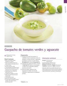 Gazpacho de tomates verdes y aguacate