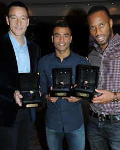 John Terry - Ashley Cole - Didier Drogba. Met John and Ashley// 21st Nov 2009. Want to meet Didier so bad!!