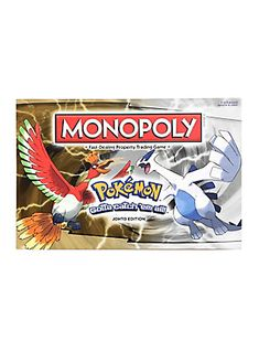 Pokemon Johto Edition Monopoly Game,