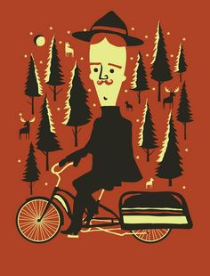 Through the Woods of a Night by Travis Bone (Furturtle Printworks)