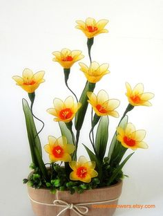 Beautifully yellow narcissus flowers for home by lovewishflowers