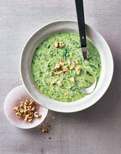 Gemüse und Gorgonzola ist eine tolle Kombi! Den Käse einfach mit Spinat und Lauch ...