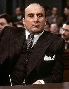 Robert DeNiro as Al Capone in The Untouchables