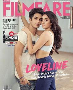 Janhvi Kapoor and Ishaan Khatter on Filmfare Magazine Cover Bollywood Couples, Bollywood Cinema, Indian Bollywood Actress, Bollywood Stars, Bollywood Celebrities, Bollywood Fashion, Sr K, Couple Photography Poses, Most Beautiful Indian Actress