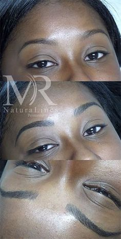 Microblading Review on Dark Skin Black Woman of Color ...
