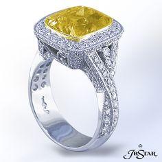 JB Star Yellow Sapphire Diamond Ring
