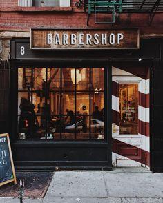 The barbershop owned by the victim. The barbershop owned by the victim. Barber Shop Interior, Barber Shop Decor, Hair Salon Interior, Salon Interior Design, Salon Design, Barber Sign, Rockabilly T Shirt, Bart Design, Best Barber Shop
