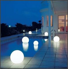 Important feature for great landscaping is outdoor lighting design. It beautifies the space and makes sure that the outdoor space can be a 24 hours Outdoor Wall Mounted Lighting, Best Outdoor Lighting, Outdoor Decor, Event Lighting, Lighting Design, Outdoor Living, Solar Pool Lights, Rooftop Patio, Swimming Pools Backyard