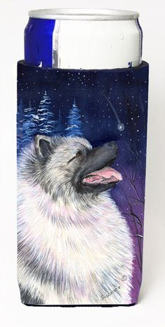 Starry Night Keeshond Ultra Beverage Insulators for slim cans SS8350MUK