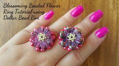 Blossoming Beaded Flower Ring Tutorial using Dollar Bead Box
