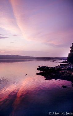 © Alison M. Jones #sunset #water #reflection #beautiful