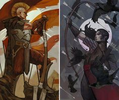 Inquisitor Tarot Commission #25 and #26 (Dragon Age Inquisition) by qissus.deviantart.com on @DeviantArt