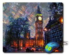 Big Ben Tower Mouse Pad Computer Mousepad London Art Painting Big ben gift London painting Best Mouse Pad Artistic Painting Best mouse mat