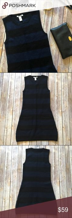 "Alice + Olivia Sleeveless Wool Sweater Dress Beautiful Alice + Olivia sweater dress! I love the pockets on this dress, it definitely adds a little something extra! Length from back neck to bottom hem is approx. 29"". 100% merino wool. Some light pilling/fuzzies but overall in great condition!  NO TRADES NO OFF SITE  ✅POSH RULES ONLY ✅DOG FRIENDLY, SMOKE FREE HOME ✅FAIR OFFERS  PLEASE USE OFFER BUTTON!  ❓ASK IN THE COMMENTS!   BUNDLE 2+ ITEMS & SAVE!!!!! Alice + Olivia Dresses"