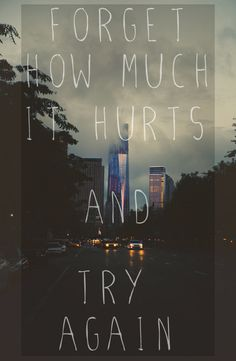 Pain isn't that easy to forget...