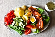 Not-Quite Niçoise with Lime-Chive Cream (includes avocado and smoked salmon!)