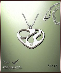 Axcesi 545T Heart pendant  stainless steel 27x29mm   by Axcesi