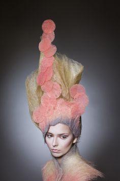 After photo of model for 2014 TONI&GUY Photographic Awards Avant Garde Runner-up Om Graves