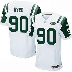 Men's New York Jets #90 Dennis Byrd White Road NFL Nike Elite Jersey