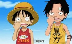 """One piece Luffy&Ace  """"So what?"""""""