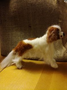 Tilaustyö Cavalier. Neulahuovutustyö. Cavalier, Dogs, Animals, Animales, Animaux, Pet Dogs, Doggies, Animal, Animais