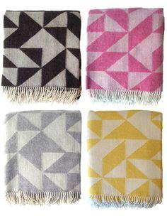 amazing colorful wool blankets by danish designer Tina Ratzer