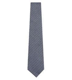 HARDY AMIES Mini Check Silk-Cotton Tie. #hardyamies #ties