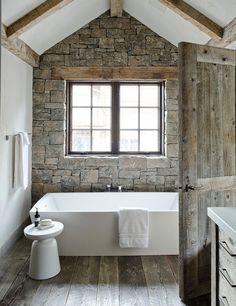 Rustic awesome bath!