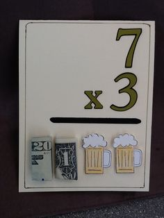Birthday Card For My Sons Friend Turning 21 Who Is Good In Math