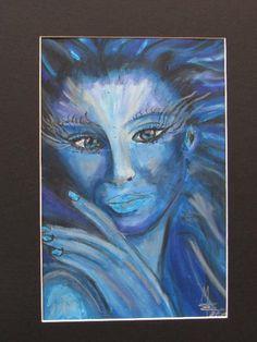 LADY BLUE - Zeichnung - MW Art Marion Waschk