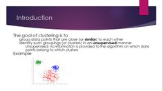 Clustering introduction