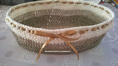 The Big Stitch Theory: Oval basket in hardened crochet - including instructions on how to harden it