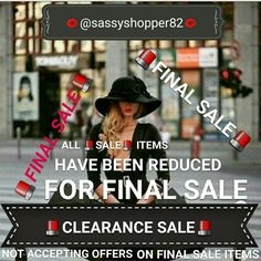 CLEARANCE SALE ASK FOR SHIPPING DISCOUNT PRIOR TO BUYING  FINAL YEAR END SALE.  ALL SALE ITEMS MUST GO OR WILL BE TAKEN DOWN ON 12/31/15  NOT ACCEPTING OFFERS - SALE ITEMS ARE MY BOTTOM LINE. Other