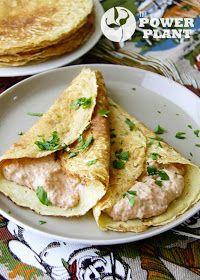 Блинчики с пикантной начинкой из тофу