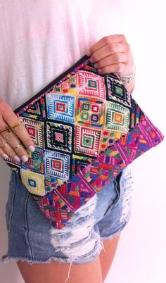 Travel Essential: Handmade cosmetic bag from Guatemala. {the little market}