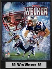 New England Patriots Wes Welker 9x12 Plaque Wes Welker a37f37e41