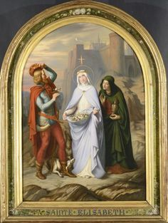 The Miracle of the Roses of Saint Elizabeth of Hungary / Le Miracle des roses de sainte Elisabeth de Hongrie // 1845 // Claudius Lavergne // © Musée des Beaux-Arts de Lyon Catholic Art, Religious Art, Saint Elizabeth Of Hungary, Christian Art, Deities, Lyon, Christianity, Saints, Religion