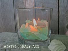 Sea Glass for DIY Wedding Centerpieces and other Crafts in shades of Aqua Blue and Sea Foam Greens by BostonSeaglass