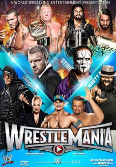 WWE Wrestlemania 31 2015 Poster by Dinesh-Musiclover